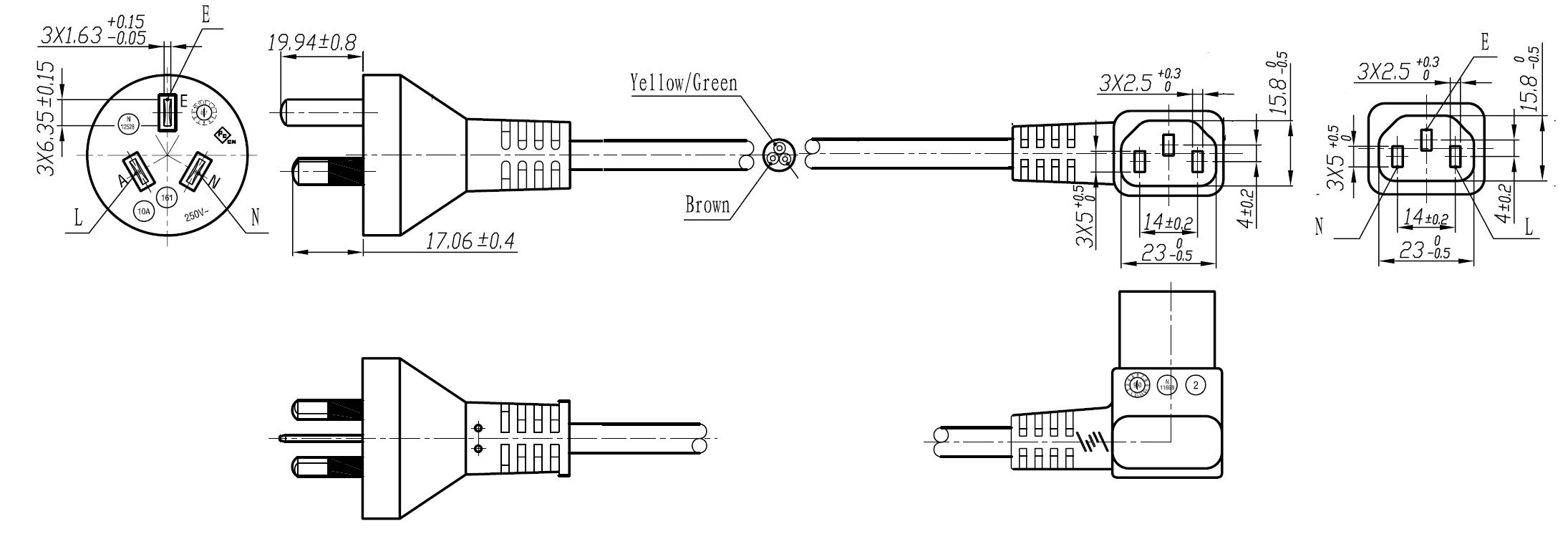 ac iec c14 wiring diagram