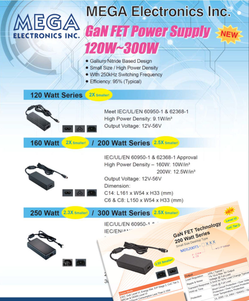 MEGA Electronics is pleased to announce the launch of GaN  FET power supplies